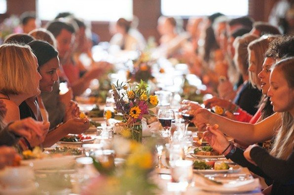 Farm to table dinner at the Wanderlust Festival.