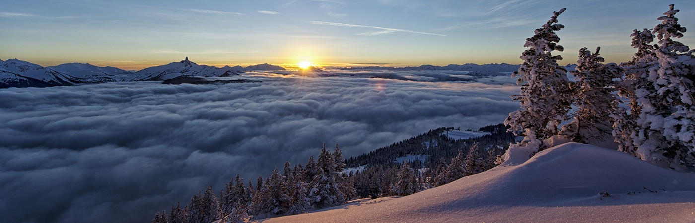 David McColm's shot of the clouds blanketing Whistler.