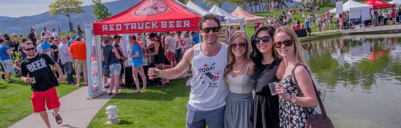 Enjoying beer at the Great Okanagan Beer Festival