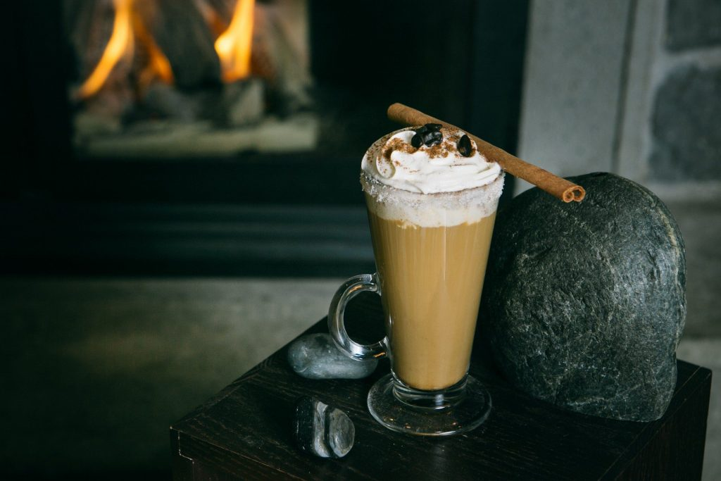 The Après Ski Cocktail makes the perfect warmer when added to a hot Americano.