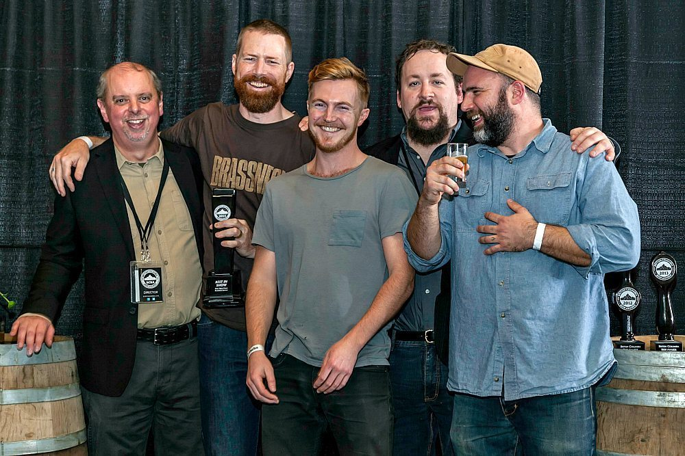 Brassneck Brewery winning at the BC Beer Awards.