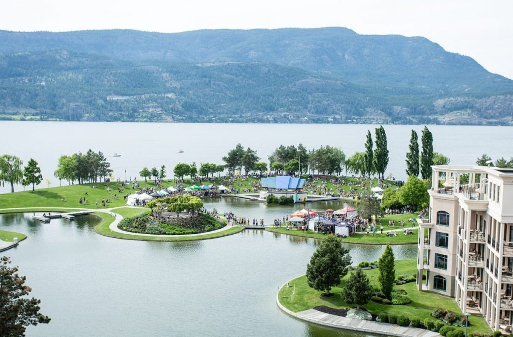 The beautiful setting for the Great Okanagan Beer Festival.