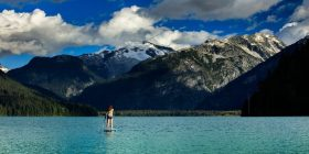 Scenic Whistler Stand Up Paddle Boarding. Image: Mitch Winton Photography